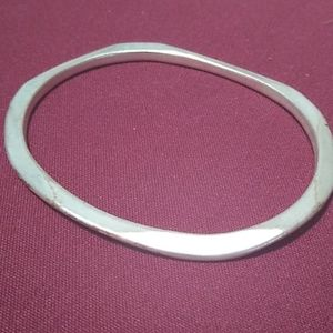 Vintage Sterling Silver Heavy Bangle Bracelet